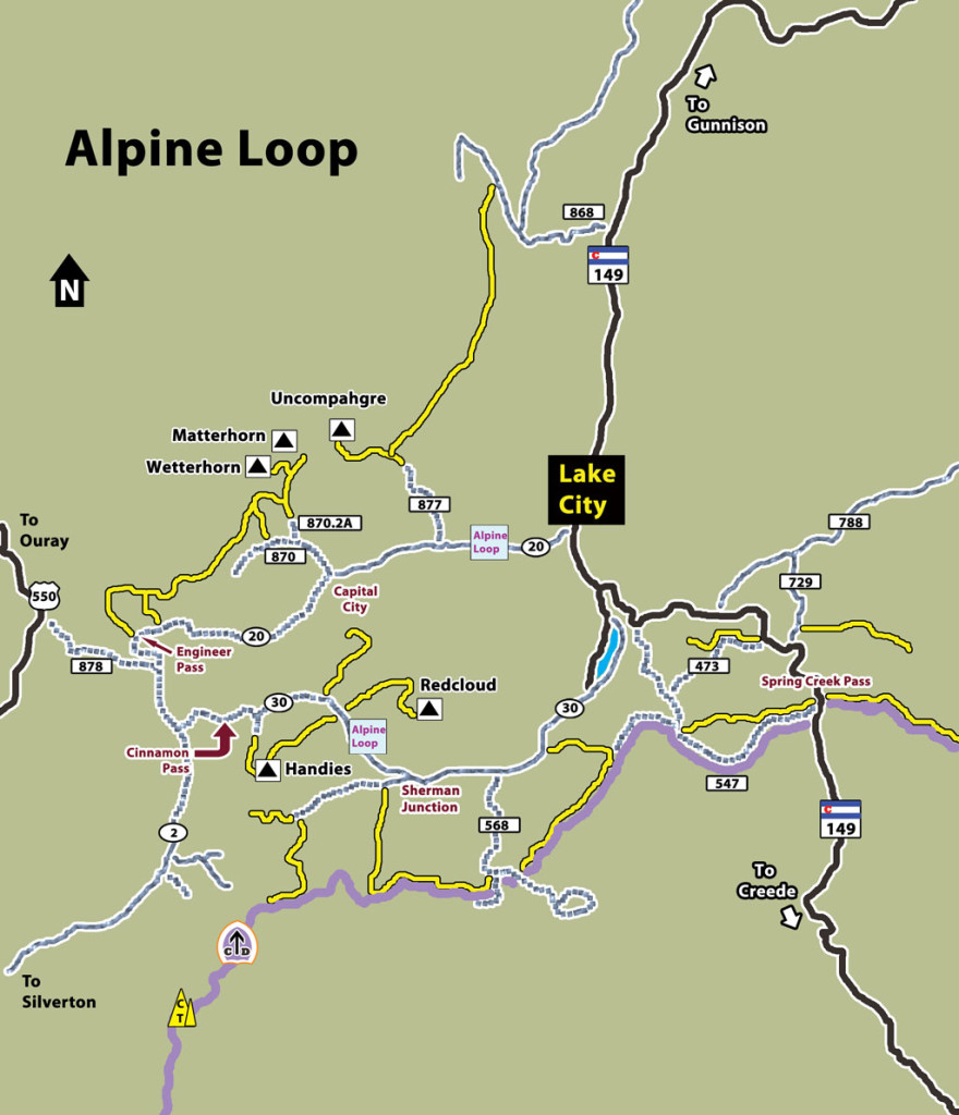 Hiking Colorado-Alpine Loop Scenic Byway
