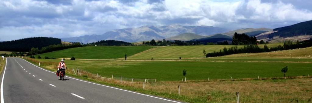 Bicycling South Island New Zealand-Bicycling to Geraldine