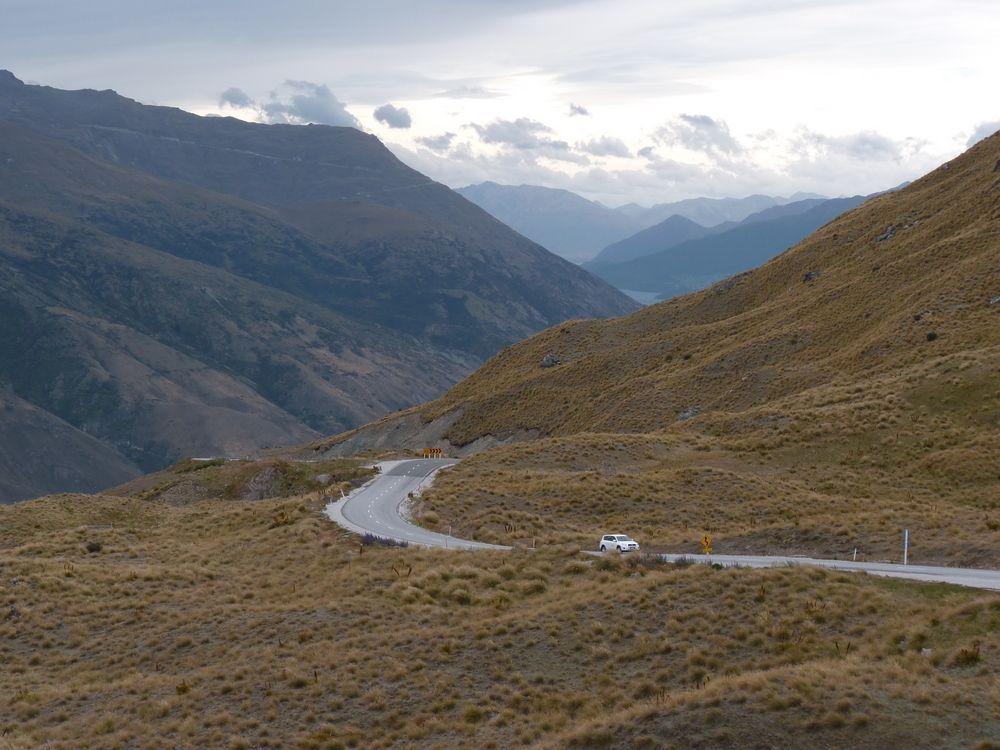 Bicycling South Island New Zealand-Crown Range Road by Stephanie Le Rat