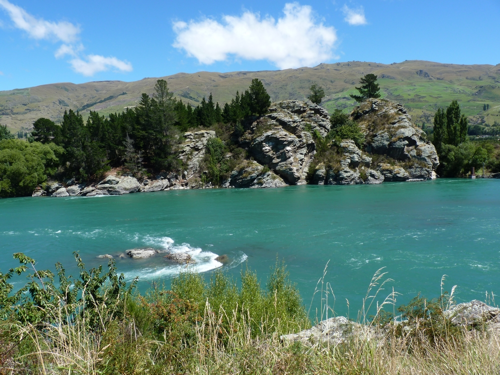 Bicycling South Island New Zealand-Clutha River by Stephanie Le Rat
