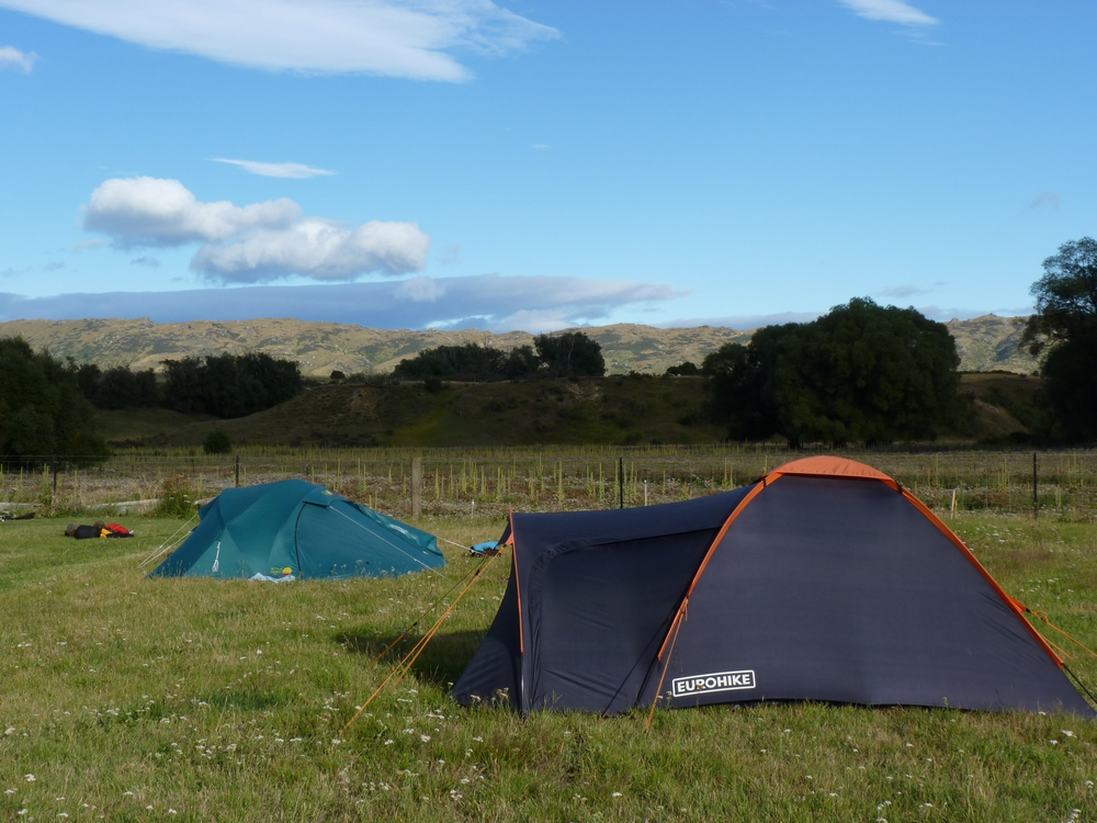 Bicycling South Island New Zealand-Otago Rail Trail-camping at Crows Nest by Stephanie Le Rat
