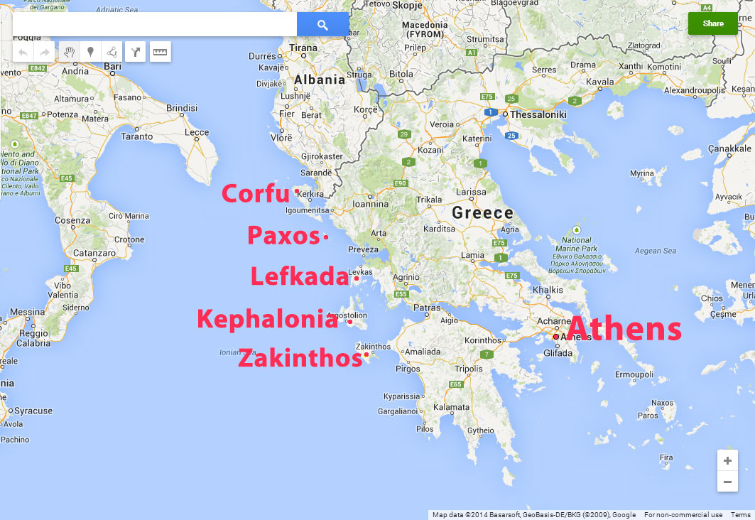 Bicycling Greece-The-major Ionian-Islands