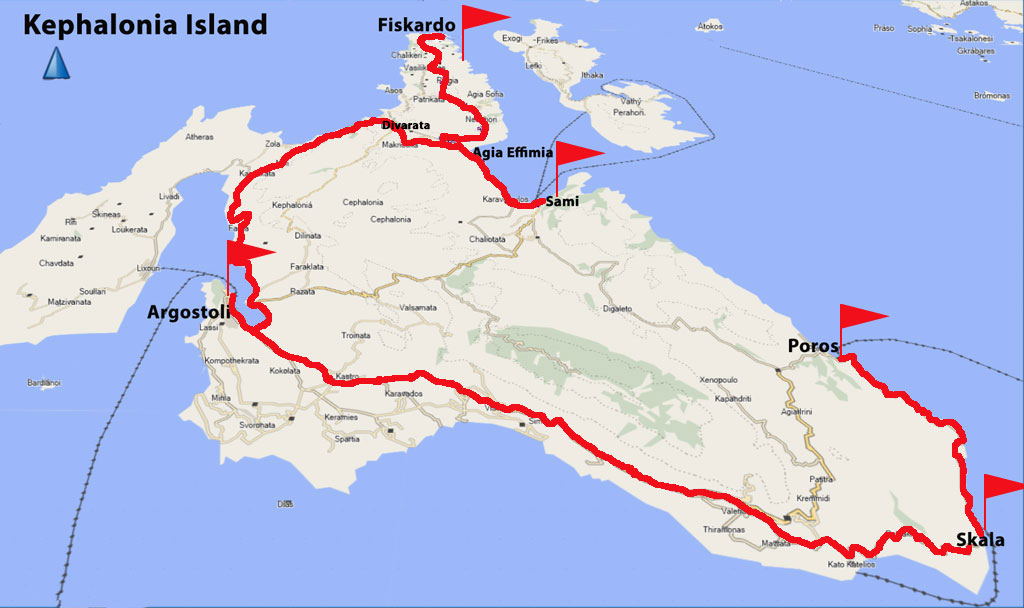 Bicycling Kephalonia-Island-Our-route