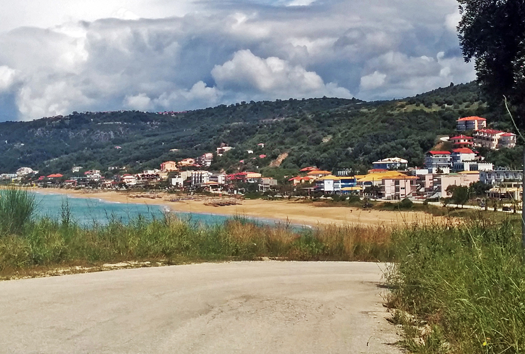 Bicycling Mainland Greece-Nea Thesis to Loutsa Beach