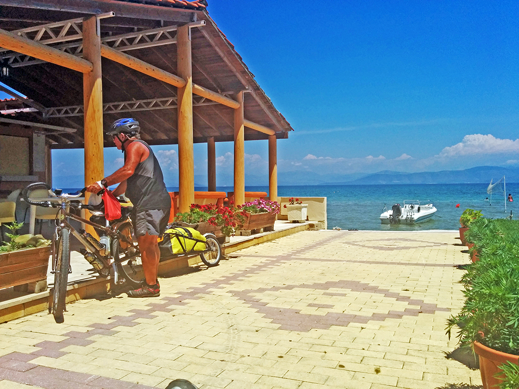Bicycling Corfu-Kavos-Seafront Apartments